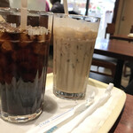 ドトールコーヒーショップ - ドリンク写真:アイスコーヒー、ラテ