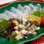 魚信旅館 - 料理写真:夕食(オコゼ薄造り)
