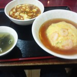 中華飯店一番 - 天津飯と麻婆豆腐定食