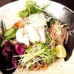 蕎麦 石寅 - 鶏野菜そば♪