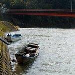 ま心 ちゃんぽんぎょうざ店 - 球磨川沿いから繊月大橋を臨んだところです☆