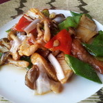 チャイニーズダイニング 桂林 - 季節野菜と牛肉のXO炒め