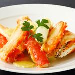4.タラバ蟹の葱生姜炒め