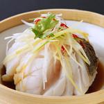 44.白身魚のネギ生姜蒸し