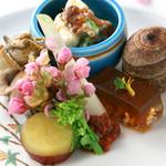 宮した - 【前菜】旬の素材たっぷりの会席料理をお楽しみいただけます。