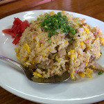 浜ちゃんぽん - 「半炒飯定食」の半炒飯。こちらもパンチ効いてます。