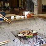 渓趣の里 - 地鶏網焼き定食