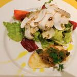 ボンジョリーナ - 前菜のサラダ