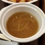 中国大明火鍋城 木の葉キッチン - 【定食のスープ】味は悪くなかったのですが、激ぬるでした(^^;