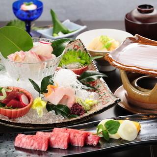県北産のお米や瀬戸内海産の魚介など、地元の食材を活かした品々