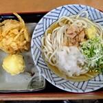 浅月 - 料理写真:冷やし中と天ぷら