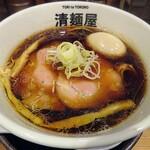 清麺屋 - 【鶏そば醤油 玉子入り】¥880