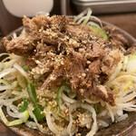 三田製麺所 - 肉ねぎ飯