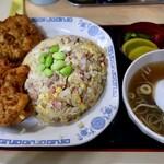 中華料理 タカノ - チャーハン鳥の唐揚げ付き(700円)