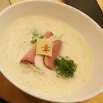 123644137 - ◆三河赤鶏と魚介のぱいたんそば◆♪