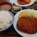 みつわ - 料理写真:とんかつ定食ご飯大盛り