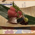 産直青魚専門 池袋 御厨 - 刺身(鮪、鯵、鯖)