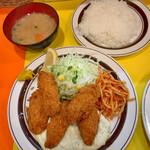 キッチンABC - カキフライ定食 980円