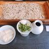 三瀬そば - 料理写真:板そば 並と トッピング山芋