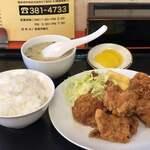 ハルピン - 料理写真:(ミニ)鶏の唐揚げランチ¥680