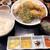 浜moto桜 - 料理写真:ミックス定食(カキフライ1個追加)/手前のソースは左から(タルタル/マスタード/ハーブソルト/明太子)