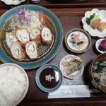 花まり - ササミチーズカツ定食(800円)