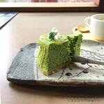 123705423 - スフレチーズケーキ 抹茶と柚子