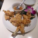 123709674 - 梅みそ付きの鶏唐揚げ