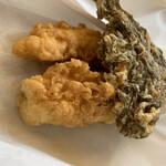 上間てんぷら店 - 料理写真:天ぷら3種