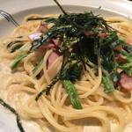 洋麺屋ピエトロ - 料理写真:ベーコンとほうれん草クリームソース