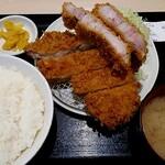 tonkatsuhamaya - 国産特上ロースかつ定食