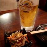 飲笑語楽 - 生ビールで乾杯‼️