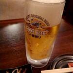 飲笑語楽 - 一番搾り(生ビール)490円