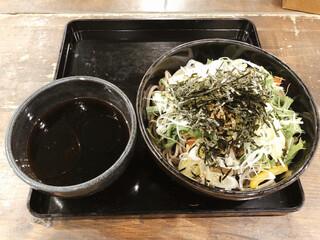 札幌ガッつけ蕎麦 - 豚ガッつけ蕎麦 900円 + 麺150g 150円