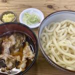 元祖田舎っぺうどん - 肉ねぎ汁もりうどん 600円(あつもり) 生姜 50円
