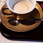 サザ コーヒー - ミルクと砂糖を入れても、すごくおいしい。味変を楽しむには、二杯飲みたいなぁ。