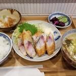 氏ノ木 - アジフライ定食