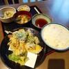 Iwataya - 料理写真:いわし天ぷら定食(750円)