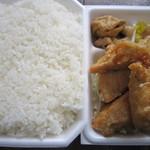 つるや - 唐揚げ弁当大盛り(410円)
