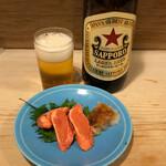 123741369 - ビール大瓶+たらこ焼