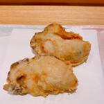 天麩羅 なか江 - 岡山の牡蠣は珍しい
