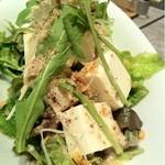 12375525 - 京豆腐と生野菜サラダ(´Д` )野菜の味が濃いですね~