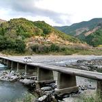 柳瀬温泉 - 半家沈下橋(宿からクルマで5分くらいです)
