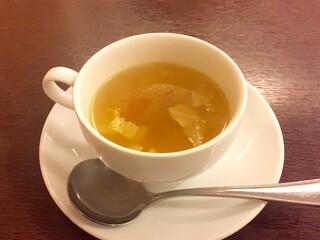 レストラン 洋食工房 - プレミアムビーフシチューセットに付属のスープ