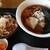 道の駅 紫波 レストラン果里ん亭 - 料理写真:醤油ラーメントミニ牛丼(自力セット)