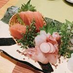 釜飯と和食 旬 - お刺身五点盛り  アップ