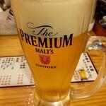 立ち飲み大松 - 生ビール 480円(税別)