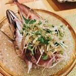 釜飯と和食 旬 - 島根  どんちっち(真鯵)たたき    750円