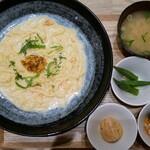 祇園茶寮×タニタカフェ - ウニとトビコの和だしクリームパスタ
