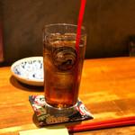 酒と炭焼 おかげさん - 黒烏龍茶